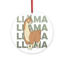 Llama, Llama, Llama! Ornament (Round)
