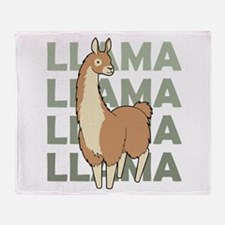 Llama, Llama, Llama! Throw Blanket
