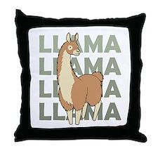 Llama, Llama, Llama! Throw Pillow