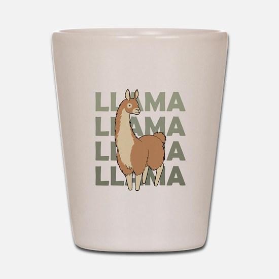 Llama, Llama, Llama! Shot Glass
