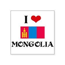 I HEART MONGOLIA FLAG Sticker