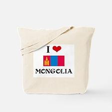 I HEART MONGOLIA FLAG Tote Bag