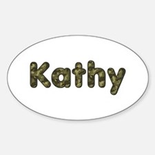 Kathy Army Oval Decal