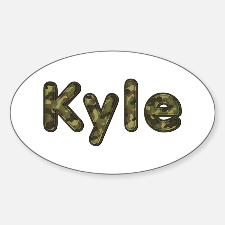 Kyle Army Oval Decal