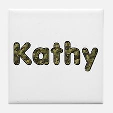 Kathy Army Tile Coaster