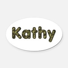 Kathy Army Oval Car Magnet