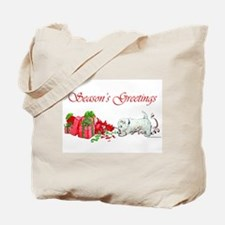 Westie Greetings Tote Bag
