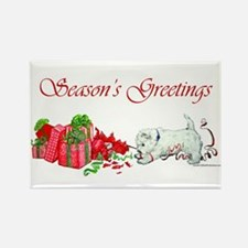Westie Greetings Rectangle Magnet (100 pack)