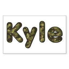 Kyle Army Rectangle Decal