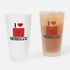 I HEART MOROCCO FLAG Drinking Glass