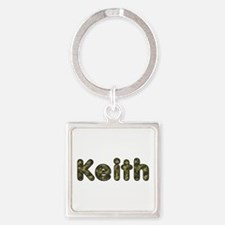 Keith Army Square Keychain