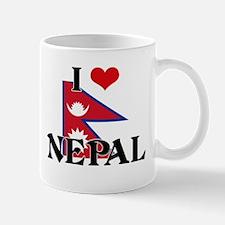 I HEART NEPAL FLAG Mug