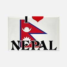 I HEART NEPAL FLAG Rectangle Magnet