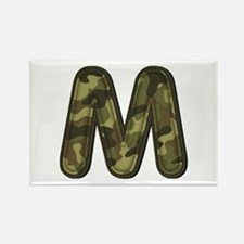 M Army Rectangle Magnet