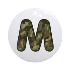 M Army Round Ornament