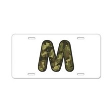 M Army Aluminum License Plate