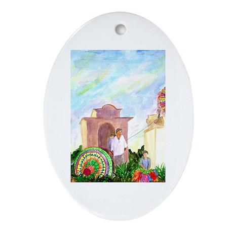 Guatemala Kites Oval Ornament