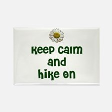 Keep Calm and Hike On Rectangle Magnet (100 pack)