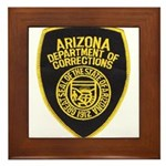 Arizona Corrections Framed Tile