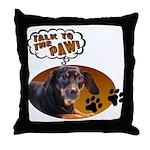 Dachshund Paw Throw Pillow