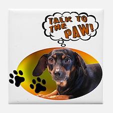 Dachshund Paw Tile Coaster