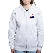 I HEART NEW ZEALAND FLAG Zip Hoodie