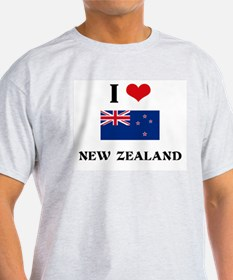 I HEART NEW ZEALAND FLAG T-Shirt