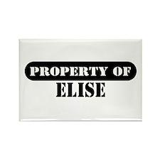 Property of Elise Rectangle Magnet