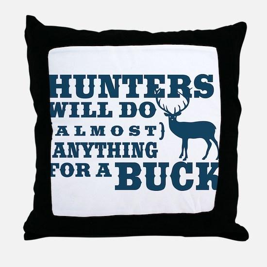 Deer Hunting Humor Throw Pillow