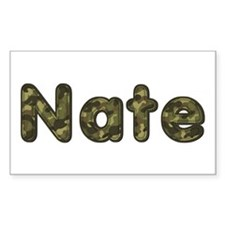 Nate Army Rectangle Decal