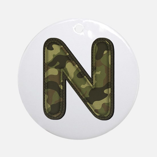 N Army Round Ornament