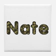 Nate Army Tile Coaster