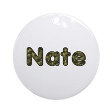 Nate Army Round Ornament