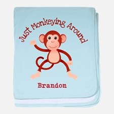 Just Monkeying Around baby blanket