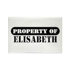 Property of Elisabeth Rectangle Magnet
