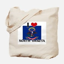 I HEART NORTH DAKOTA FLAG Tote Bag