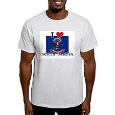 I HEART NORTH DAKOTA FLAG T-Shirt