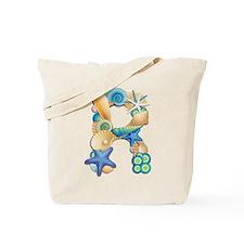 Beach Theme Initial R Tote Bag