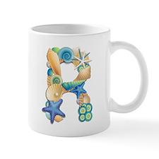 Beach Theme Initial R Mug
