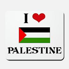 I HEART PALESTINE FLAG Mousepad