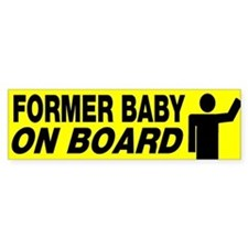 Former Baby On Board Bumper Stickers