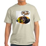 Dachshund Paw Ash Grey T-Shirt
