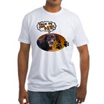 Dachshund Paw Fitted T-Shirt
