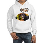 Dachshund Paw Hooded Sweatshirt