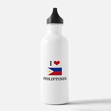 I HEART PHILIPPINES FLAG Water Bottle