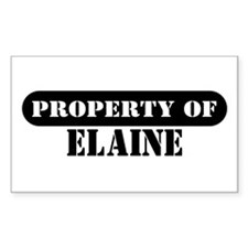 Property of Elaine Rectangle Decal