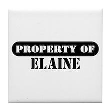 Property of Elaine Tile Coaster