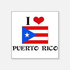 I HEART PUERTO RICO FLAG Sticker