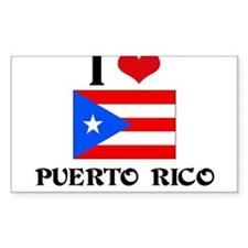 I HEART PUERTO RICO FLAG Decal
