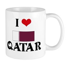 I HEART QATAR FLAG Mug